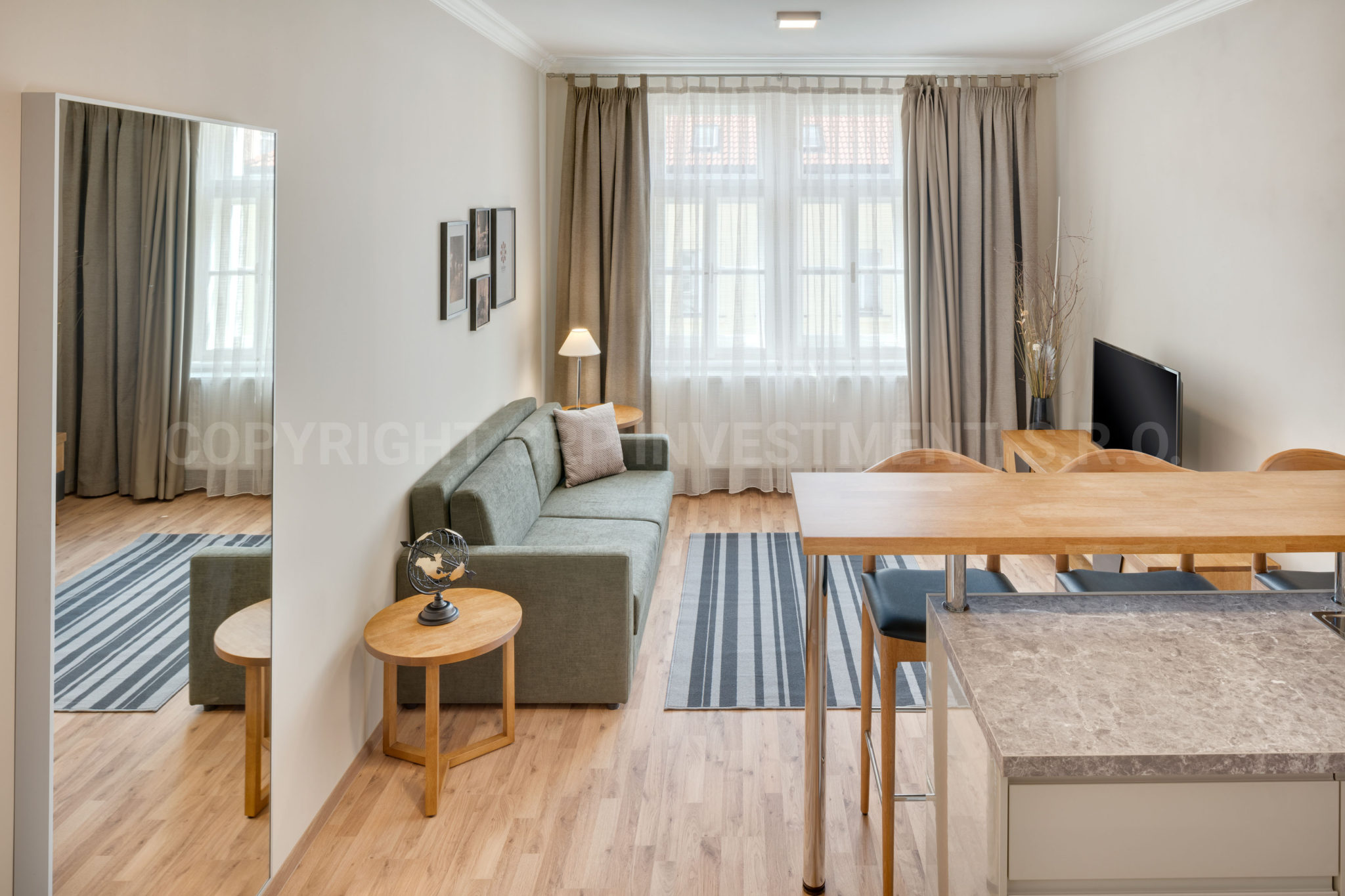 1 Schlafzimmer Wohnung zur Miete Prag